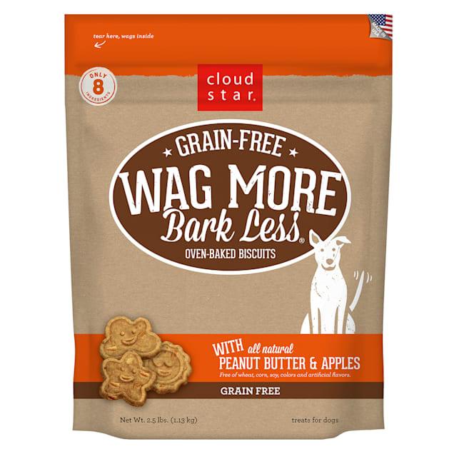 Cloud Star Wag More Bark Less Grain Free Peanut Butter & Apples Dog Treats, 2.5 lbs. - Carousel image #1