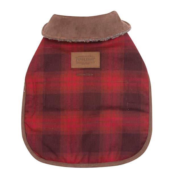 Pendleton Red Ombre Plaid Dog Coat, Extra Small - Carousel image #1