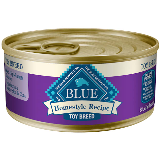 Blue Buffalo Blue Homestyle Recipe Toy Breed Chicken Dinner with Garden Vegetables Wet Dog Food, 5.5 oz., Case of 24 - Carousel image #1