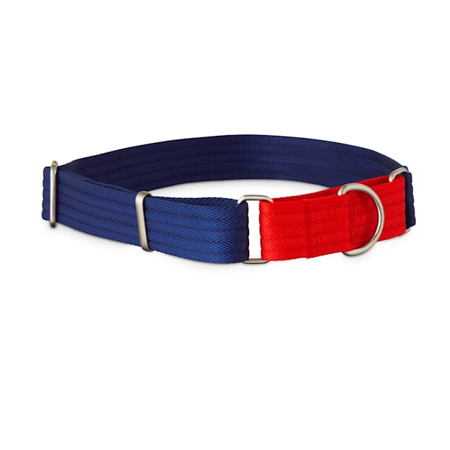 Good2Go Red and Blue Two Tone Martingale Dog Collar, Large - Carousel image #1