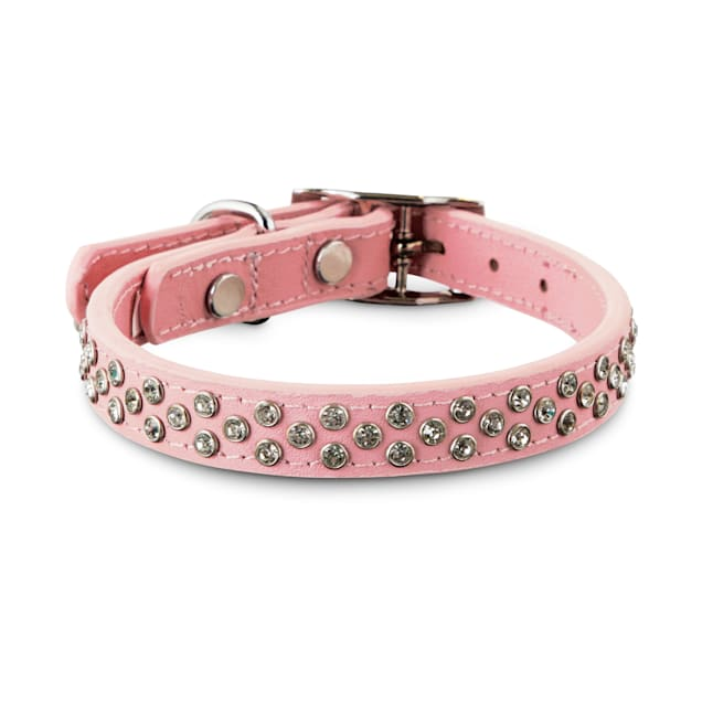 Bond & Co. Twinkled Pink Leather Dog Collar, X-Small/Small - Carousel image #1