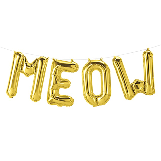 Northstar Balloons Meow Foil Balloon Banner - Carousel image #1