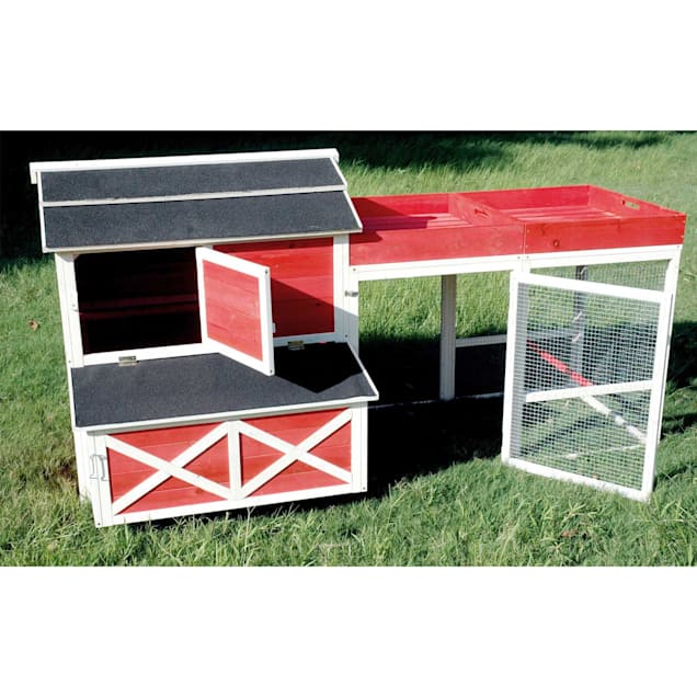 Merry Products Red Barn Chicken Coops with Roof Top Planter - Carousel image #1