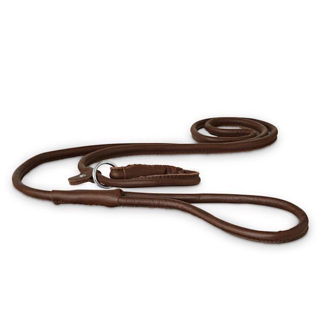 Good2Go Rolled Leather Dog Slip Leash, 5 ft. - Carousel image #1