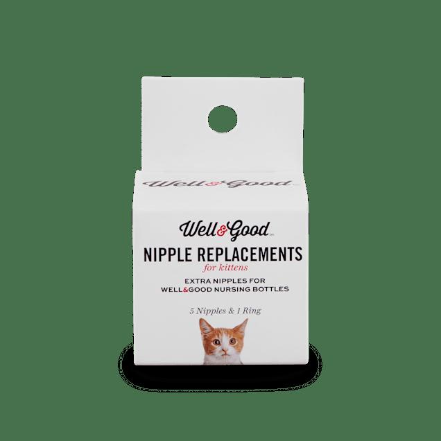 Well & Good Replacement Kitten Bottle Nipple Kit, 0.035 lb. - Carousel image #1