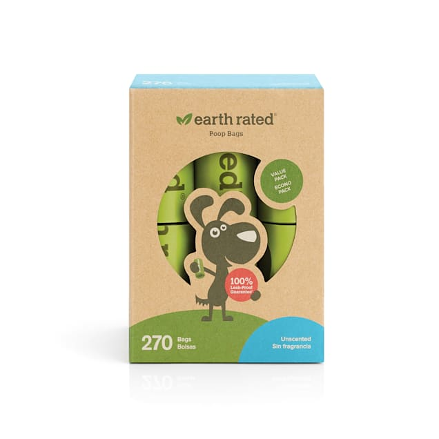 Earth Rated PoopBags 270 Unscented Refill Bags - Carousel image #1