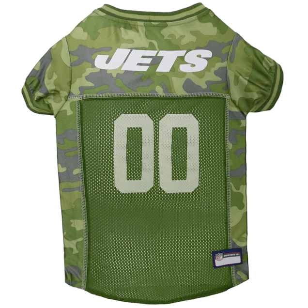 Pets First New York Jets Camo Jersey, X-Small - Carousel image #1