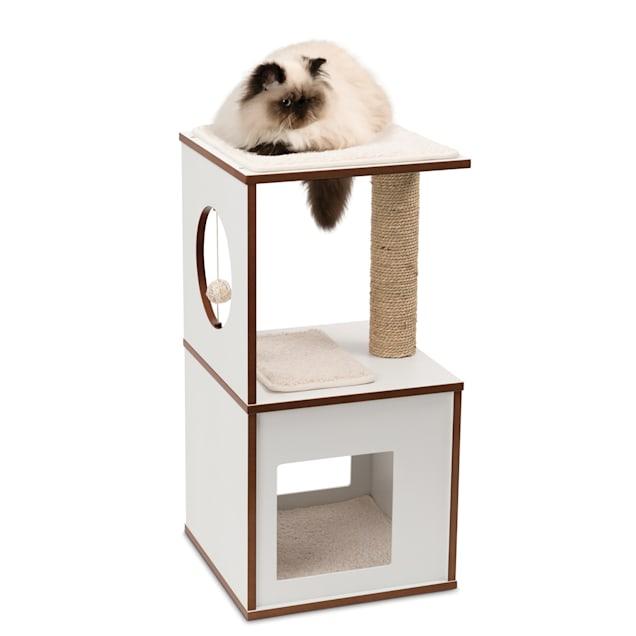"""Vesper V-box White for Cats, 28.54"""" H - Carousel image #1"""