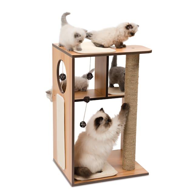 "Vesper V-box Walnut for Cats, 30.71"" H - Carousel image #1"