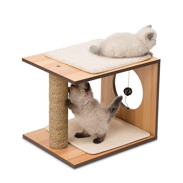 "Vesper V-stool Walnut, 14.57"" H - Carousel image #1"