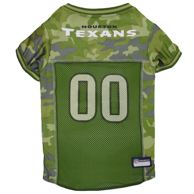 Pets First Houston Texans Camo Jersey, X-Small - Carousel image #1