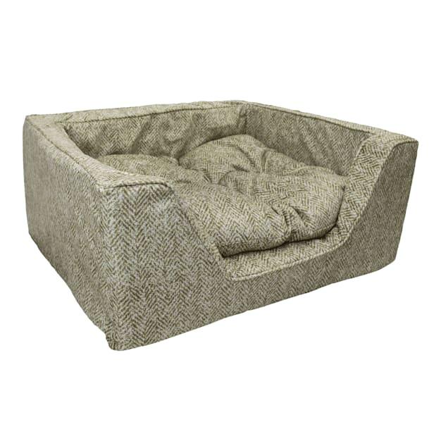 "Snoozer Premium Micro Suede Square Palmer Citron Dog Bed, 27"" L X 23"" W - Carousel image #1"