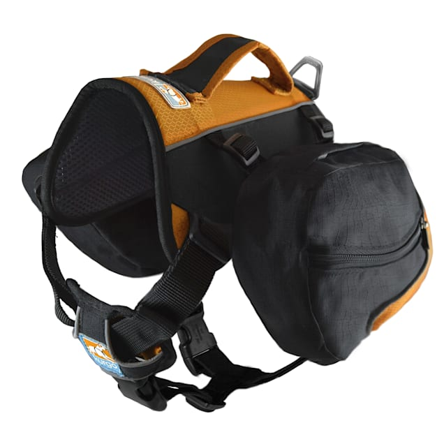 Kurgo Big Baxter Dog Backpack In Black/Orange, Large - Carousel image #1