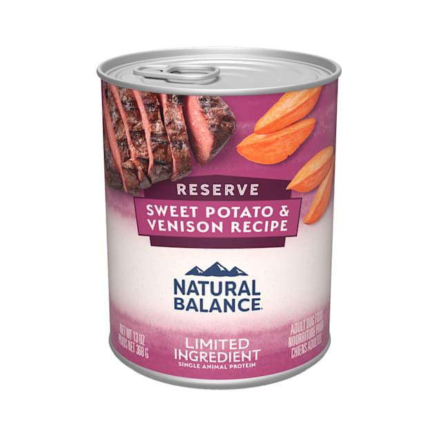 Natural Balance L.I.D. Limited Ingredient Diets Sweet Potato & Venison Formula Wet Dog Food, 13 oz. - Carousel image #1