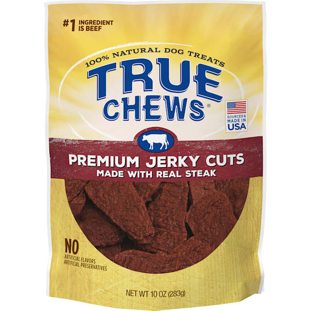 True Chews Premium Jerky Cuts Made with Real Steak Natural Dog Treats, 10 oz. - Carousel image #1