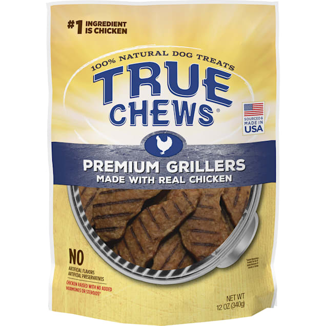 True Chews Premium Grillers Made With Real Chicken Natural Dog Treats, 12 oz. - Carousel image #1