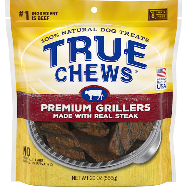True Chews Premium Grillers Made with Real Steak Natural Dog Treats, 20 oz. - Carousel image #1