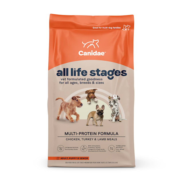 CANIDAE All Life Stages Chicken, Turkey, Lamb & Fish Meals Formula Dry Dog Food, 44 lbs. - Carousel image #1
