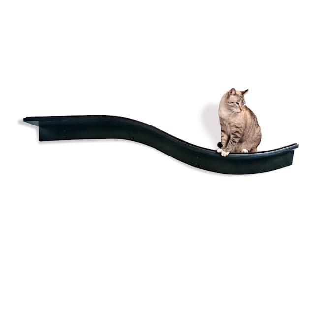 "The Refined Feline Lotus Branch Cat Shelf In Espresso, 61"" L X 10.5"" W X 12"" H - Carousel image #1"
