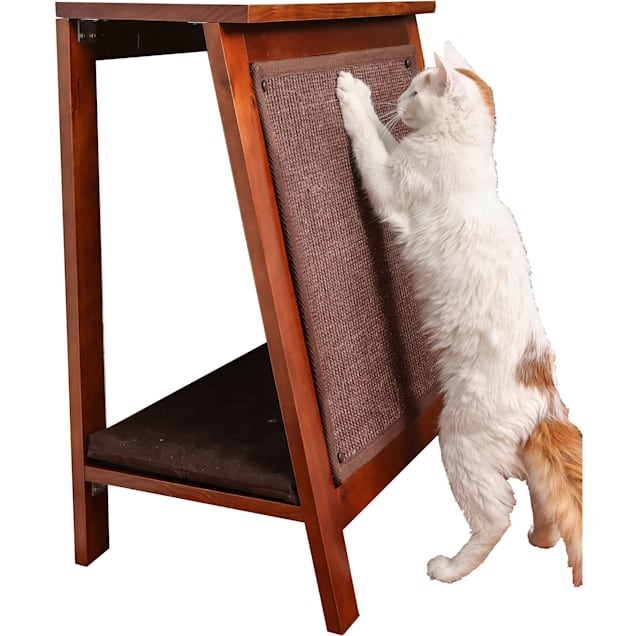 """The Refined Feline Ain Frame Cat Bed In Mahogany, 23.5"""" L X 15"""" W X 28"""" H - Carousel image #1"""