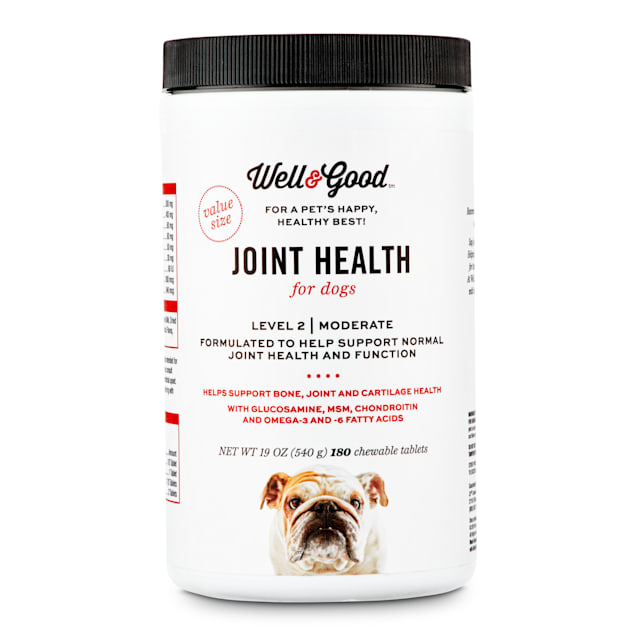 Well & Good Adult Level 2 Dog Joint Health Chewable Tablets, Count of 180 - Carousel image #1