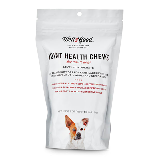 Well & Good Adult Level 2 Dog Joint Health Chews, 17.9 oz., Count of 60 - Carousel image #1