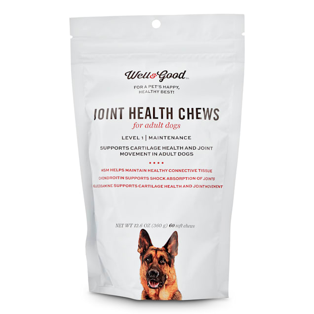 Well & Good Adult Level 1 Dog Joint Health Chews, 12.6 oz., Count of 60 - Carousel image #1