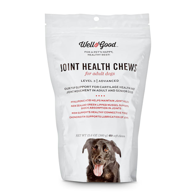 Well & Good Adult Level 3 Dog Joint Health Chewable Tablets, 12.6 oz., Count of 60 - Carousel image #1