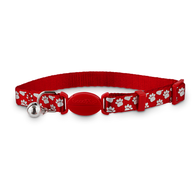 Good2Go Red Shiny Paws Breakaway Cat Collar - Carousel image #1