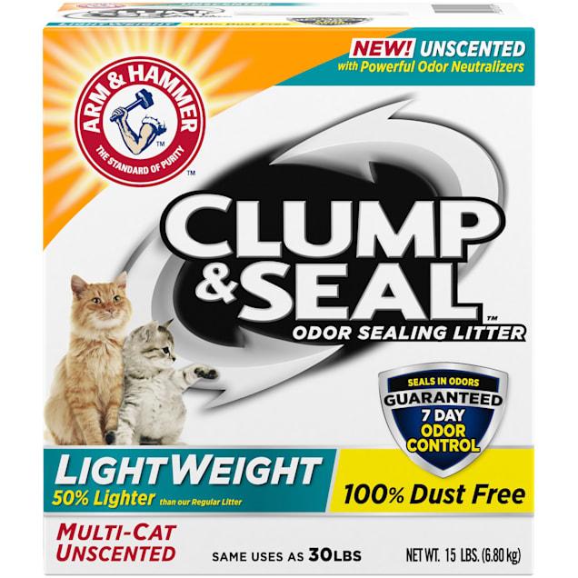Arm & Hammer Clump & Seal Lightweight Unscented Clumping Cat Litter, 15 lbs. - Carousel image #1