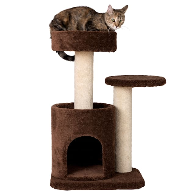 """Armarkat Cat Tree Carpeted Gym Scratching Post F3005 Coffee Brown, 30"""" H - Carousel image #1"""