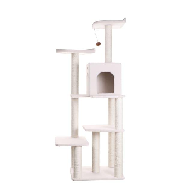 "Armarkat Classic Cat Tree B6802 Ivory, 68"" H - Carousel image #1"