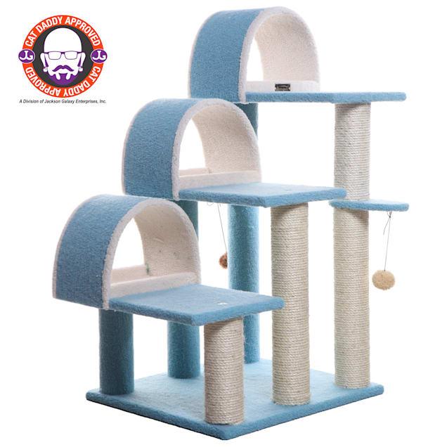 "Armarkat Classic Cat Tree Model B3803 Sky Blue, 38"" H - Carousel image #1"