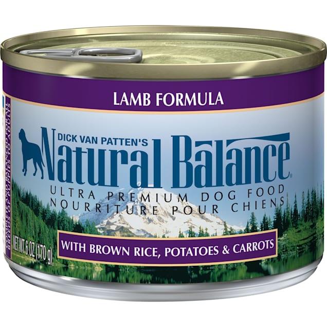 Natural Balance Ultra Premium Lamb Formula Wet Dog Food, 6 oz., Case of 12 - Carousel image #1