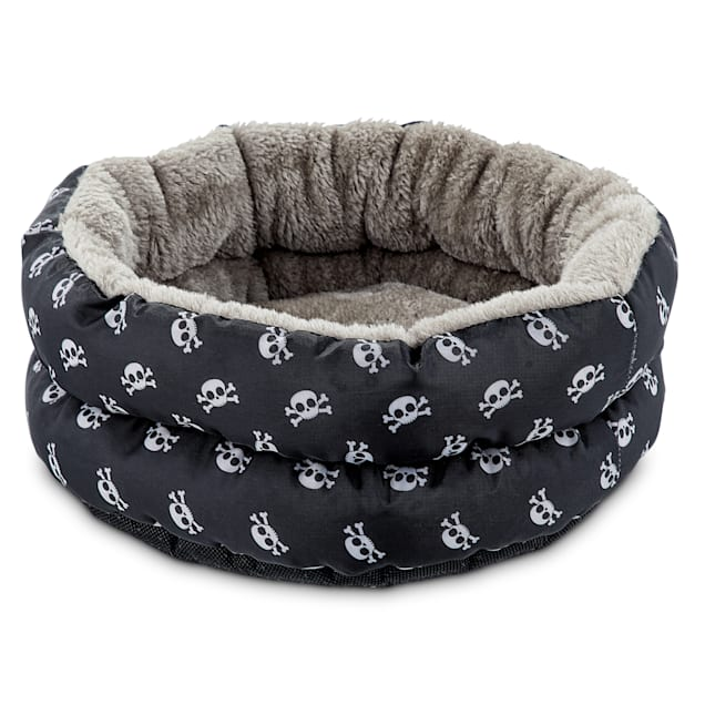 You & Me Skulls Small Animal Donut Bed - Carousel image #1