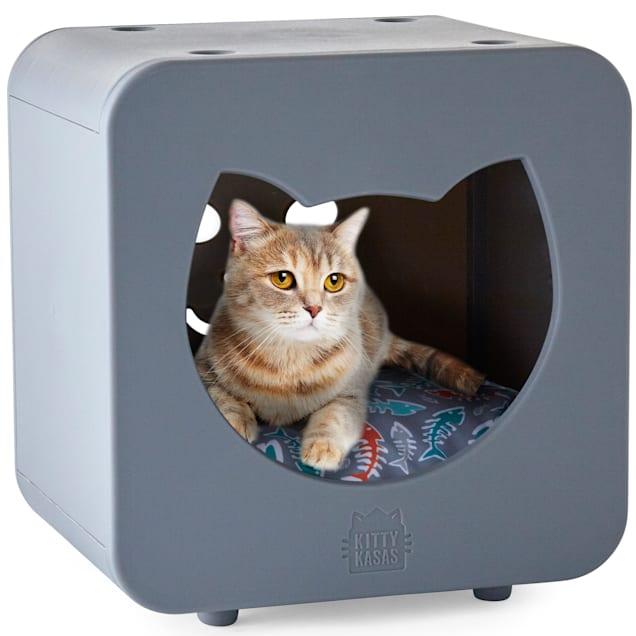 "Kitty Kasas Bedroom Gray for Cat, 15.75"" H - Carousel image #1"