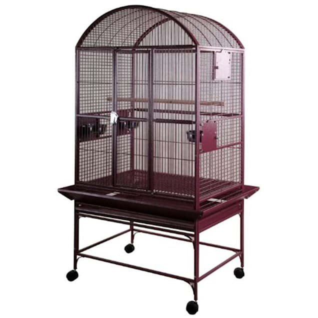 """A&E Burgundy Large Dome Top Bird Cage, 32""""x23"""" - Carousel image #1"""
