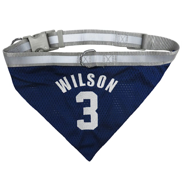 Pets First Russell Wilson Mesh Collar Bandana, Small - Carousel image #1