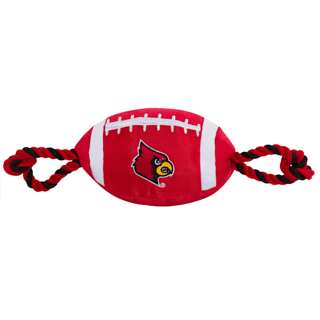 Pets First Louisville Nylon Football Toy, Medium - Carousel image #1