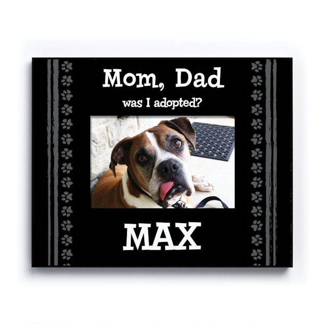 Custom Personalization Solutions Was I Adopted Personalized Dog Frame Black - Carousel image #1