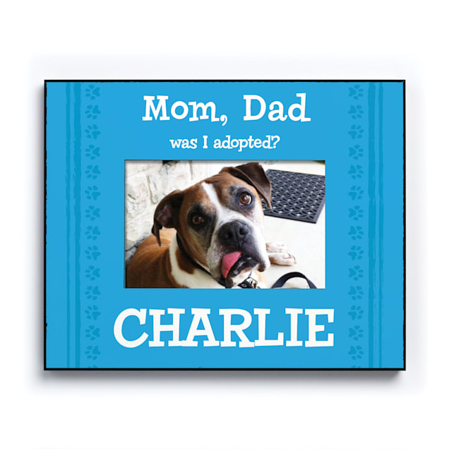 Custom Personalization Solutions Was I Adopted Personalized Dog Frame Blue - Carousel image #1