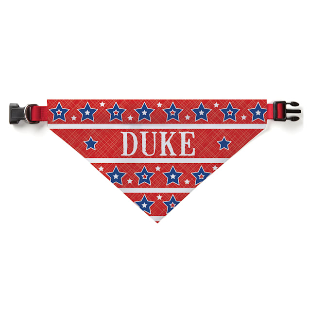 Custom Personalization Solutions Personalized Stars And Stripes Dog Bandana Collar Cover - Carousel image #1