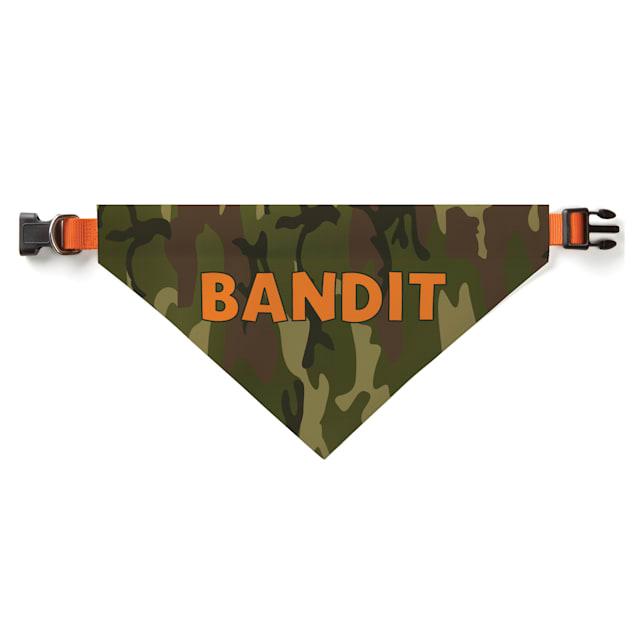 Custom Personalization Solutions Personalized Camo Dog Bandana Collar Cover Green - Carousel image #1