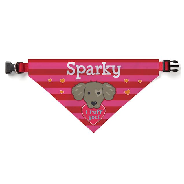 Custom Personalization Solutions I Ruff You Personalized Dog Bandana Collar Cover - Carousel image #1