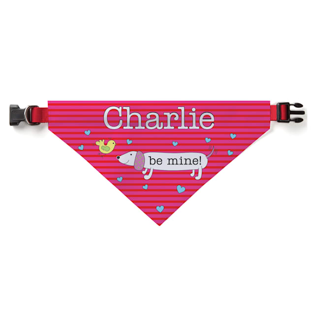 Custom Personalization Solutions Be Mine Personalized Dog Bandana Collar Cover - Carousel image #1