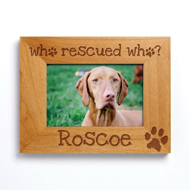 Custom Personalization Solutions Who Rescued Who Personalized Frame with Paw Print - Carousel image #1