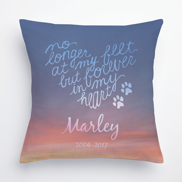 Custom Personalization Solutions Forever In My Heart Personalized Pet Pillow - Carousel image #1