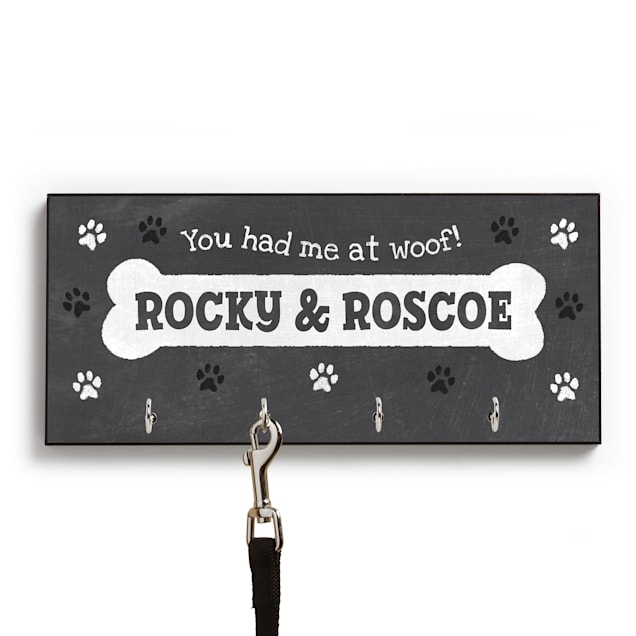 Custom Personalization Solutions You Had Me At Woof Personalized Leash Hanger - Carousel image #1