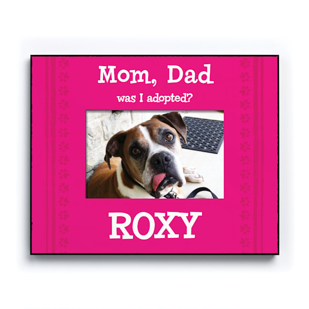 Custom Personalization Solutions Was I Adopted Personalized Dog Frame Pink - Carousel image #1