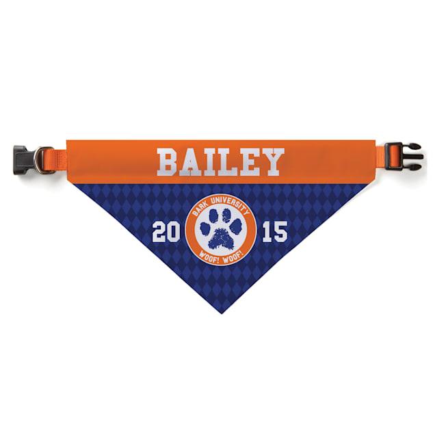 Custom Personalization Solutions Personalized Bark University Dog Bandana Collar Cover - Carousel image #1
